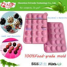 FDA Standard BPA-Free Food Grade Silicone Lolipop Mold with 20 Cavity