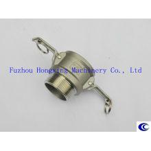 Acoplamento flexível sulcado de aço inoxidável