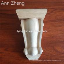 Furniture hand carved decorative wood corbels for sale