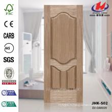 JHK-S02 Новый дизайн Необычная деревянная линия Высокое качество EV OAK Шпон Цена Сделать дверь кожи