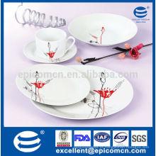 Alemanha conjuntos de jantar de porcelana fina, pratos de cerâmica durável, louça de cozinha