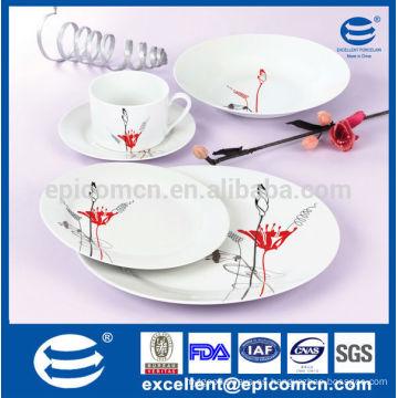 Alemania conjuntos de cena fina de porcelana, platos de cerámica duradera, vajilla de la cocina
