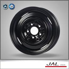 Negro brillante de color de 15 pulgadas de acero rueda de la rueda de la rueda
