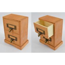 Boîte à bijoux en bois neuf avec 2 tiroirs