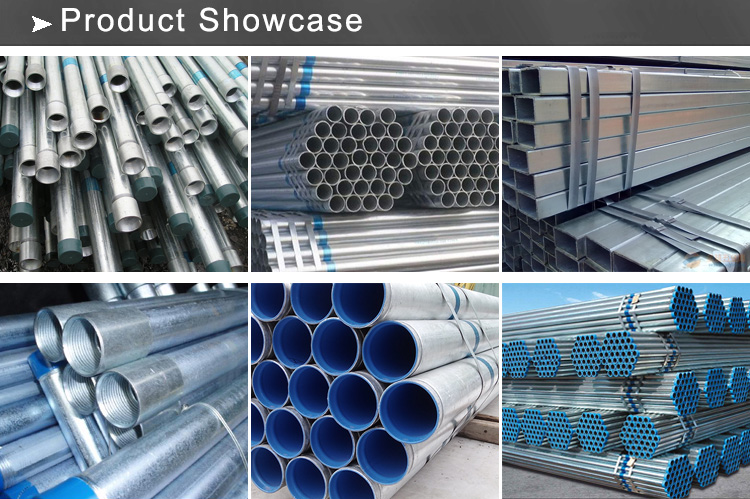 galvanized steel pipe showcase