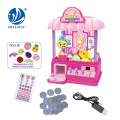 Doll catcher machine with light and music, candy grabber, children play toys