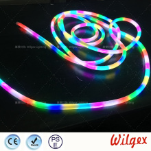 دائرية DMX RGB LED NEON FLEX