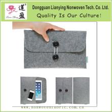 Wholesale Gray Felt Bag for iPad Mini with Elastic Belt