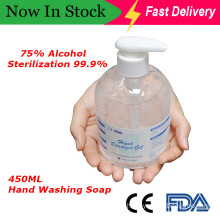 Wholesale Custom 75% Alcohol Antiseptic 450 Ml Instant Disinfecting Cleaning Hand Sanitizer Gel