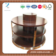 Round Wooden 3 Tier Display Table with Melamine Finish