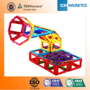 Wholesale colorful plastic magnetic pipe blocks building toys