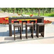 6 Sitzer Outdoor Wicker Möbel - Rattan Bar Set