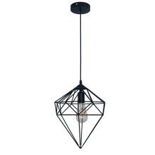 Luminária pendente geométrica de ferro com luz pendente