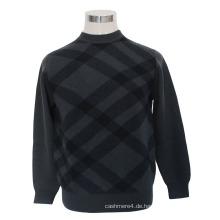 Cashmere / Yak Wolle Rundhals Pullover Langarm Pullover / Strickwaren / Kleidung / Kleidung