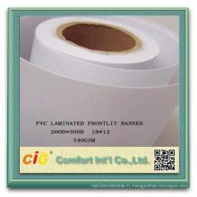Tissu en polyester PVC haute résistance revêtu de PVC