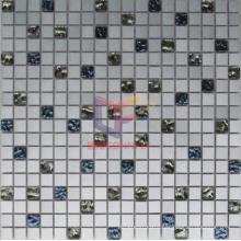 Rainbow Glass Mix Aluminium Alloy Mosaic Tile (CFA48)