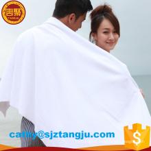 Famoso marca bordado toalha de banho hotel logotipo branco microfibra toalhas