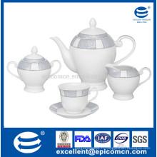 Collection de café et de thé en porcelaine 15pcs ou 17pcs