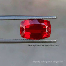 Laboratorio creado piedras preciosas sueltas amortiguador Ruby