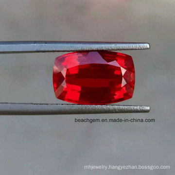 Lab Created Ruby Cushion Loose Gemstones