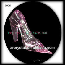 K9 Cristal Rose Main Sculpté Talons Hauts