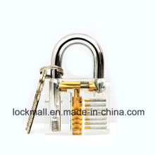 Acrylic Transparent Padlock for Locksmith Practice Lockpicking Tools, safety Padlock