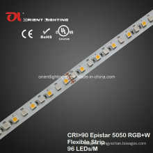 UL High CRI Epistar 5050 RGBW Flexible Strip 2600k LED Light