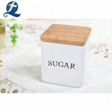 Food Sugar Tea Coffee Airtight Kitchen Storage Ceramic Canister Set