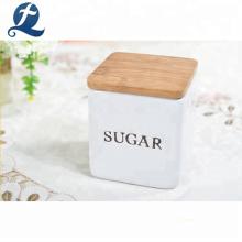 Alimentos açúcar chá café hermético cozinha armazenamento conjunto vasilha de cerâmica