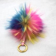 Accesorios de moda coloridos Pom Pom Llavero Personalizado