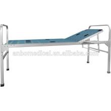 Ручная регулировка спинки алюминиевого сплава складная больничная кровать
