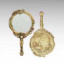 Espelho Estátua Senhora Carving Bronze Escultura TPE-536/537