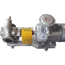 Bomba de aceite de engranaje de acero inoxidable KCB200 aprobada por CE