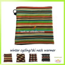 Beanie moda grosso polar polar knitted pescoço aquecedor