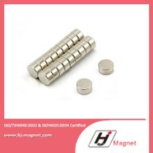 N50 permanente ímã de NdFeB de disco com alta qualidade, processo de fabricação