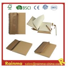 Eco Notebook com saco de lápis e papelaria Set Inside