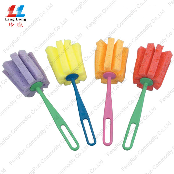 flower brush sponge