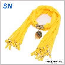 Regalo de Navidad, hermoso colgante collar joyas bufanda (SNPS1004)