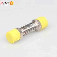 Manguera flexible flexible de la manguera de gas del metal A17 con las colocaciones de cobre amarillo