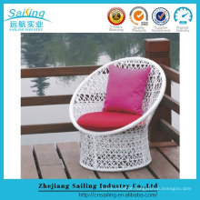 Elegant Outdoor Synthetic Rattan Wicker Round Sun Lounger