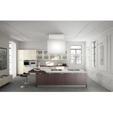 Armário de cozinha de madeira sólida estilo moderno simples estilo de alta qualidade