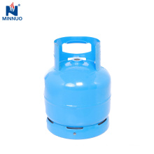 6kg propane cylinder,portable LPG gas tank,blue bottle
