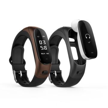 high-tech call mute / refuse heart rate blood pressure Ear Band V08 smart bracelet