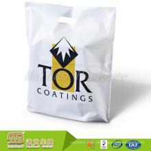 Großverkauf der fabrik Benutzerdefinierte Druck Hohe Qualität Kunststoff Einkaufstasche Mit Gestanztem Griff