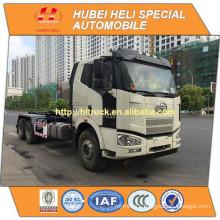 FAW J6 cab 6x4 18M3 hydraulic lifting garbage truck 280hp good quality hot sale