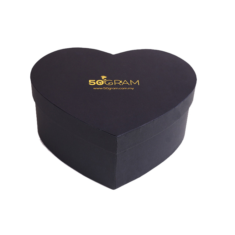 Black Paper Heart Shape Gift Box