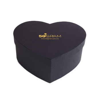 Personlized Products for China Heart Shaped Gift Box,Fancy Heart Shaped Gift Box,Large Heart Shaped Gift Box Supplier Black Cardboard Rigid Gift Box for Chocolate supply to Russian Federation Importers