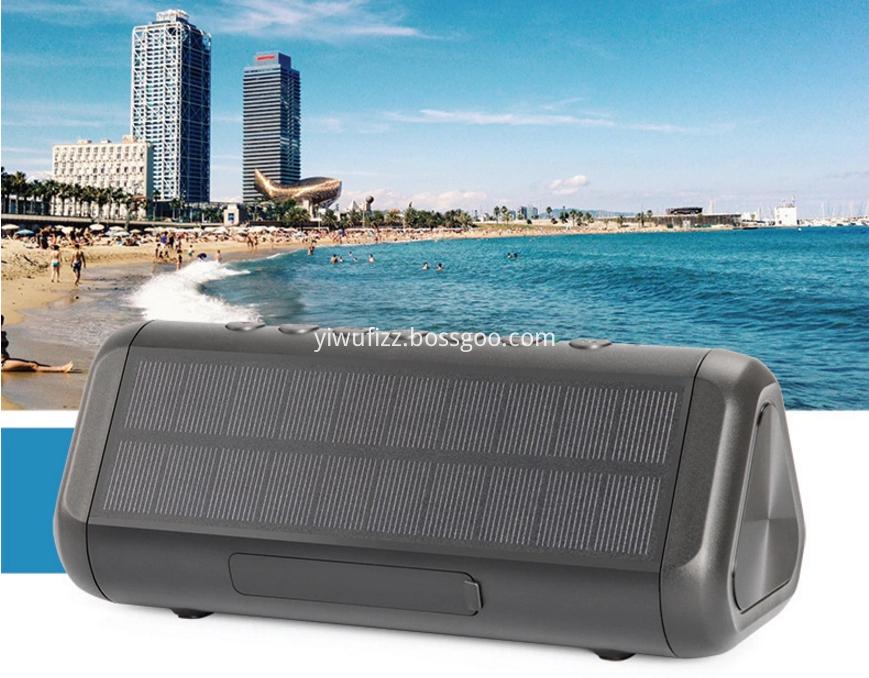 Solar bluetooth speaker