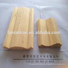 Molduras de madeira de guarnição de madeira de teto