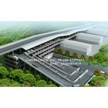 Structure de stationnement en acier / Structure en acier pour stationnement de voiture / Prefab Steel Structure de stationnement